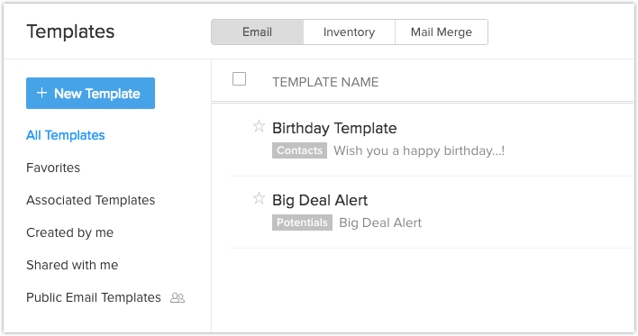 Email Templates | Online Help - Zoho CRM