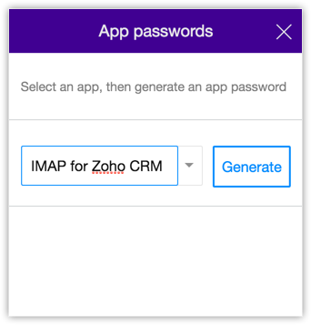 Configuring IMAP Account - Online Help - Zoho CRM